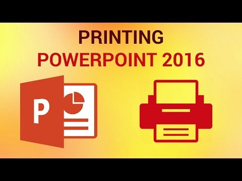 How to Print PowerPoint Slides (MS Office 2016)