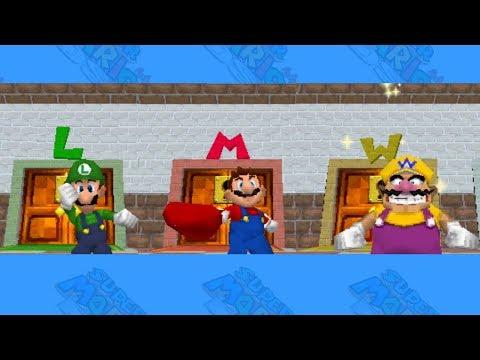 Super Mario 64 DS Alle Charaktere freischalten (Mario, Luigi, Wario)