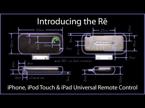 Using my Re: iPhone, iPod Touch & iPad Universal Remote Accessory by NewKinetix