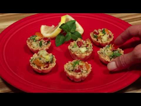 Athens QuinoaTabbouleh Mini Phyllo Shells Recipe