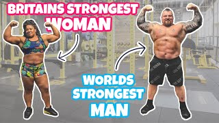 Worlds Strongest Man coaches Britain's Strongest Women! Ft Andrea Thompson