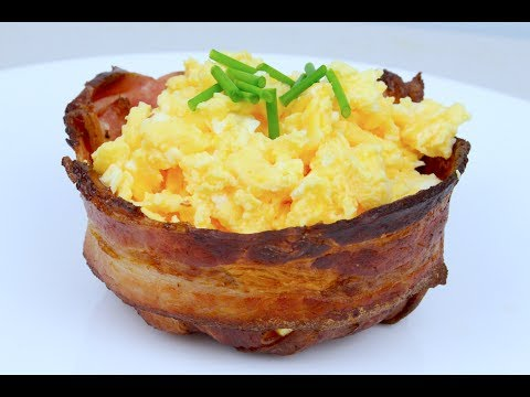 How to make BACON BOWLS - CUPS