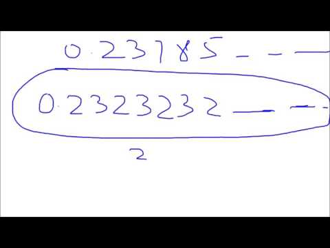 Converting Repeating decimal Numbers to Fractions (Rational) Numbers| Team MAST