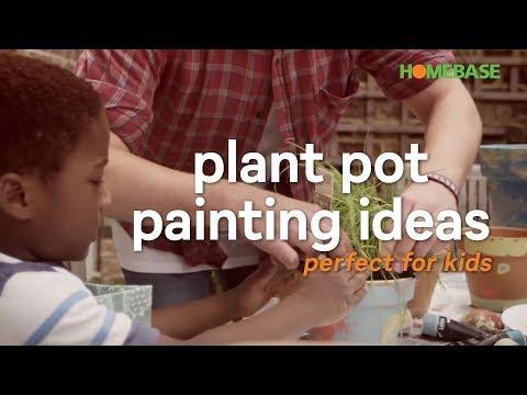 Plant pot painting ideas | kids gardening ideas | Homebase