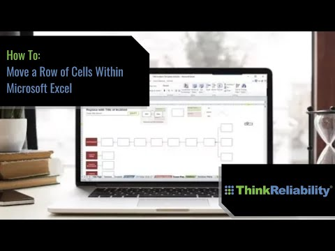 Move a Row of Cells Within Excel