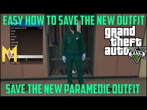 GTA 5 Glitches 1.42 *NEW* ''SAVE PARAMEDIC OUTFIT GLITCH!''