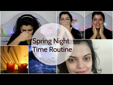 INDIAN EARLY SUMMER / SPRING NIGHT TIME SKIN CARE ROUTINE IN HINDI 2018 | PREETIPRANAV