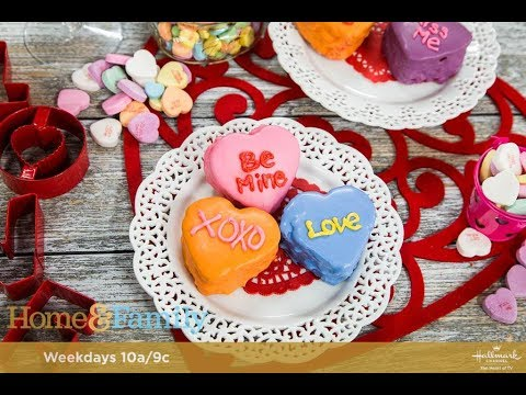 How to make conversation heart cakes for Valentine's Day!