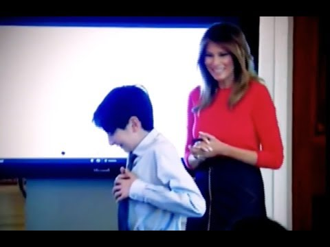 Melania Trump Heroically Comforts Child Who Spilled Water