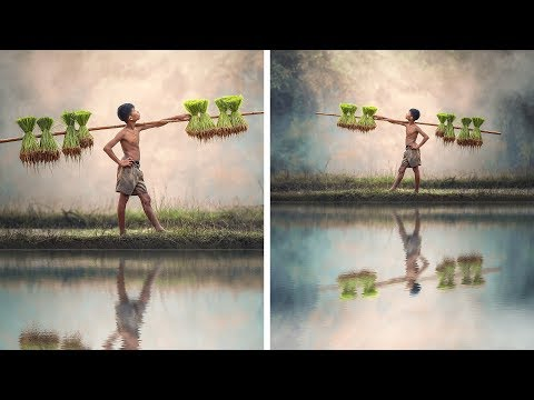 Photoshop Action: Create Water Reflections Photo Effect With Just One Click