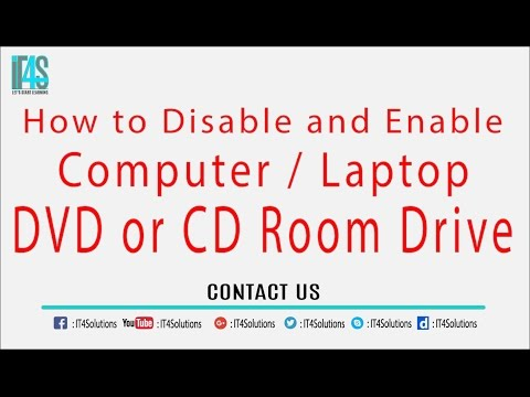 How to disable cd or dvd room drive of Laptop/Computer in widows xp/7/8/10