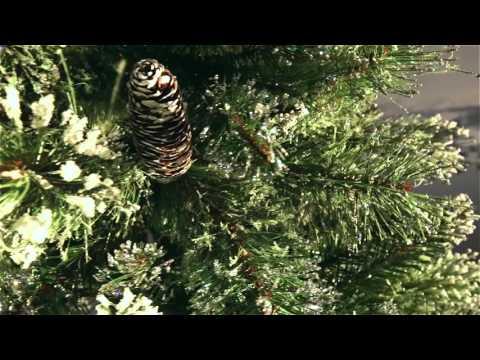 National Tree Glittery Bristle Pine 7 ft Slim
