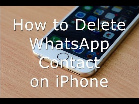 How to Delete WhatsApp Contact on iPhone and iPad