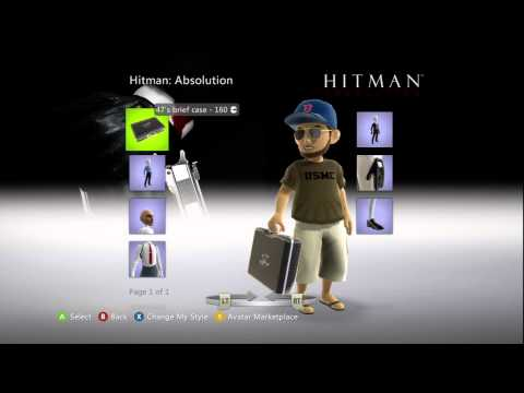 Hitman Absolution XBox Live Avatar Marketplace Items