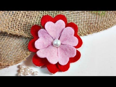 How To Make A Cute Easy Felt Flower - DIY Crafts Tutorial - Guidecentral