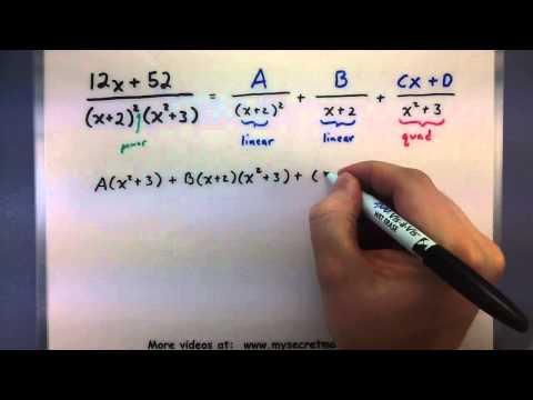 Pre-Calculus - Partial fraction decomposition