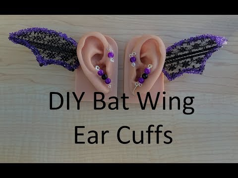 DIY Halloween Bat Wing Ear Cuff Tutorial