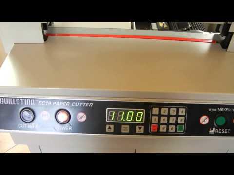 Guillotine® EC17/EC19 Back Paper Push Length Adjustment