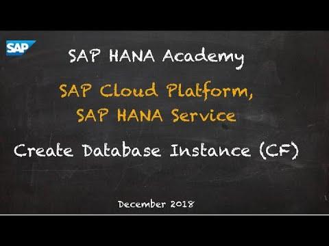 [2.0 SPS 04] SAP HANA Service, Create Database Service (Cloud Foundry) - SAP HANA Academy