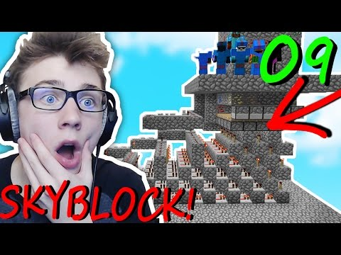 THE MOST OP COBBLESTONE GENERATOR EVER!!! (Minecraft Skyblock) #9