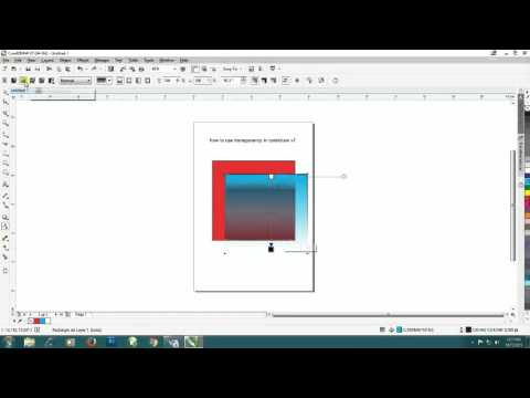 how to use transparency in coreldraw x7