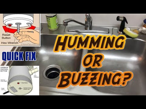 How To Fix A Broken Garbage Disposal (Humming or Buzzing)