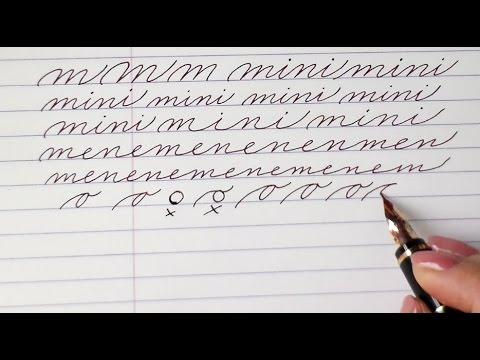 Write cursive with Schin: k, l, m, n, o
