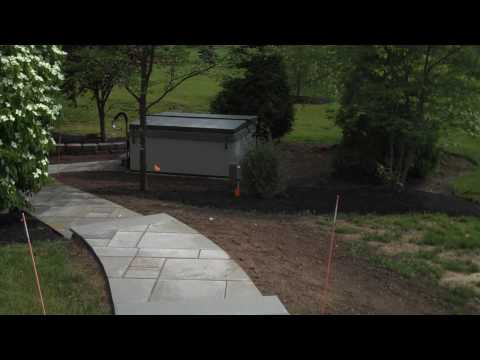 Blue Stone Walkway; Hardscaping; Steps