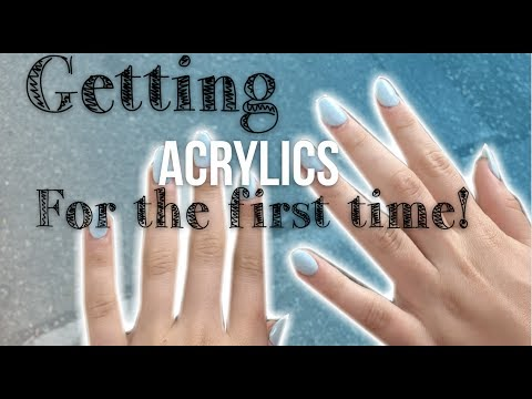 13 year olds get acrylic nails for the first time!