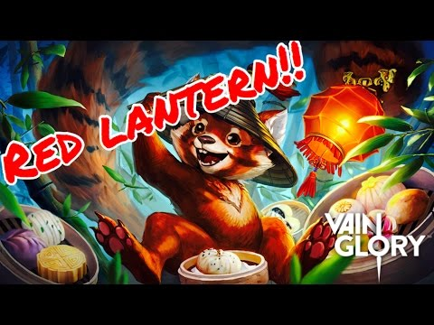 Vainglory - 2.4 NEW RED LANTERN FLICKER SKIN REVEAL!!