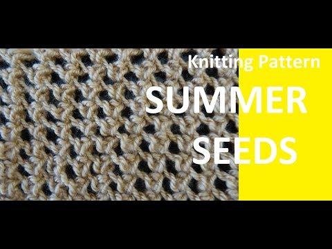Knitting Pattern * SUMMER SEEDS *