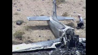 Raw: Vintage U.K. Military Jet Crash in Nevada
