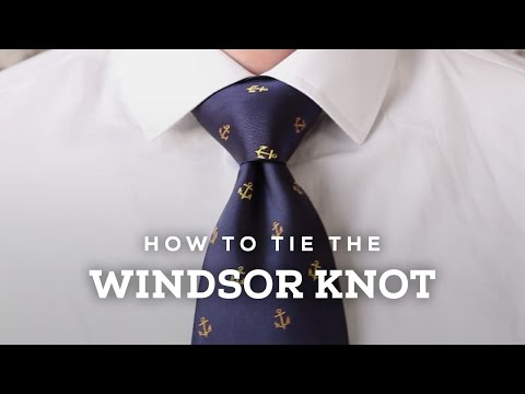 How to Tie A Perfect Windsor Knot