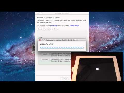 Downgrade iPhone 4s, iPad 2, New iPad From 5.1.1 to 5.0.1 using RedSn0w