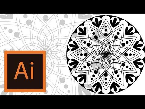 Tutorial Mandala Illustrator Mandala Illustrator