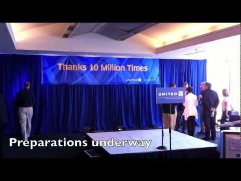 Tom Stuker's 10 Million Mile United Airlines Celebration Part 1