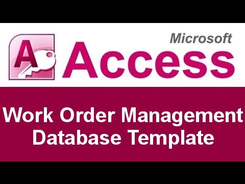 Microsoft Access Work Order Management Database Template