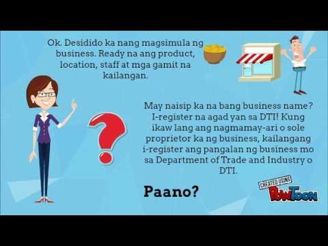Paano mag register ng Business Name sa DTI?