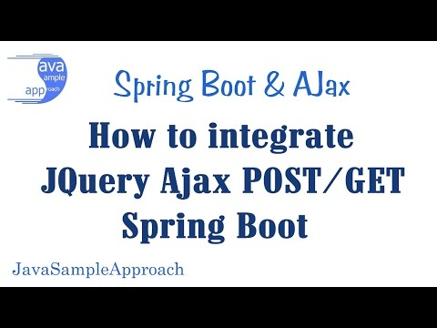 How to integrate JQuery Ajax POST GET & Spring Boot
