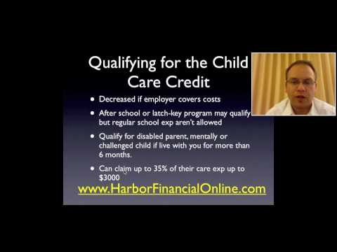 Child Care Tax Credit & Dependent Care Credit 2012, 2013