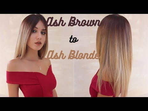 ASHY | Ash Brown Roots to White Blonde Ombre | Stella