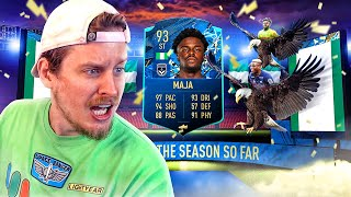 WHAT IS THIS CARD?! 93 TOTSSF MOMENTS MAJA PLAYER REVIEW! FIFA 20 Ultimate Team