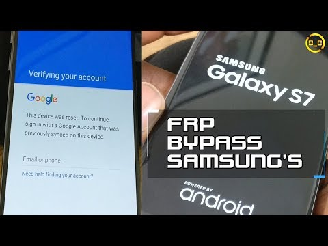 Google Factory Reset Protection (FRP) Bypass/Removal SOLUTION For Samsung's (S7)