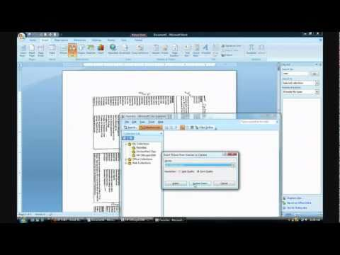 How to scan document using Word 2007