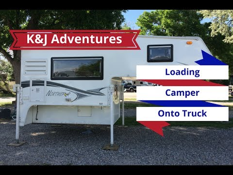 How to LOAD a Truck Camper - Power Jacks