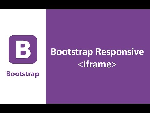 Bootstrap responsive iframe