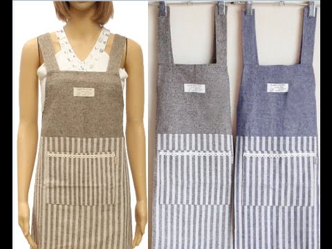 how to make apron kitchen cloth