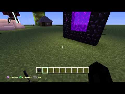 Minecraft: PlayStation®4 Edition {How to make a Nether Portal}