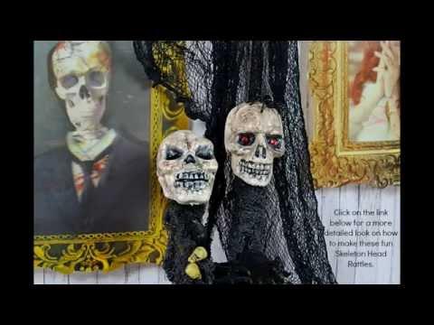 How to Make Halloween Skeleton Head Rattles