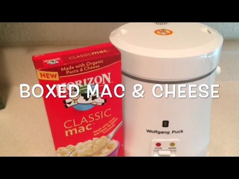 Boxed Mac & Cheese in the rice cooker